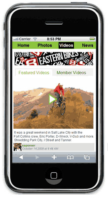 Vital Everywhere: Vital MTB Mobile Site