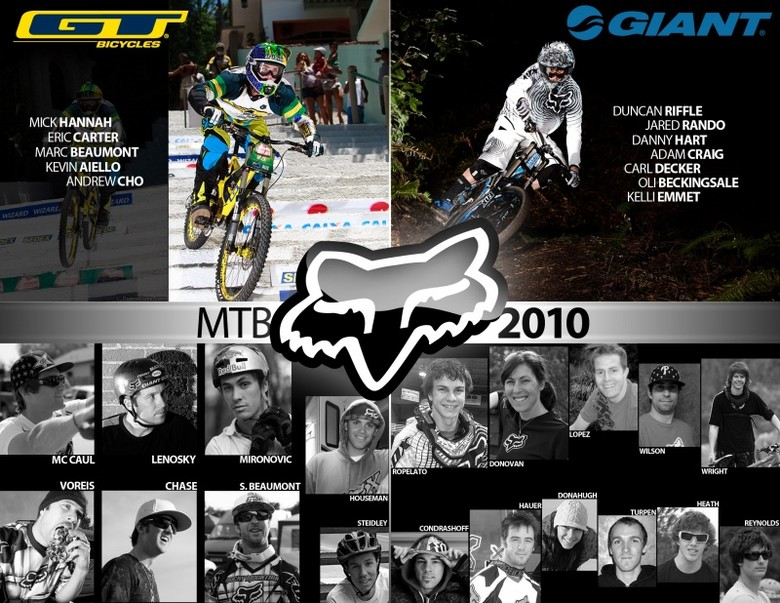 Fox announces the 2010 MTB Team