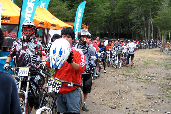 Downhill is pretty popular in Chile, and the race scene is alive and  well.  Hooray bikes. Race tomorrow. Autumn [Steve's girlfriend], I miss you. Spomer, Moga, Matt? I don't miss you. Not yet.