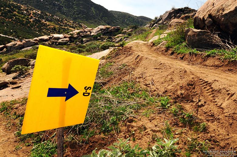 Southridge Super D course, dry, dusty goodness.  Photo: Michael McClure