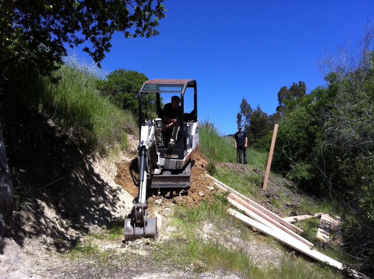 Bench cutting progress