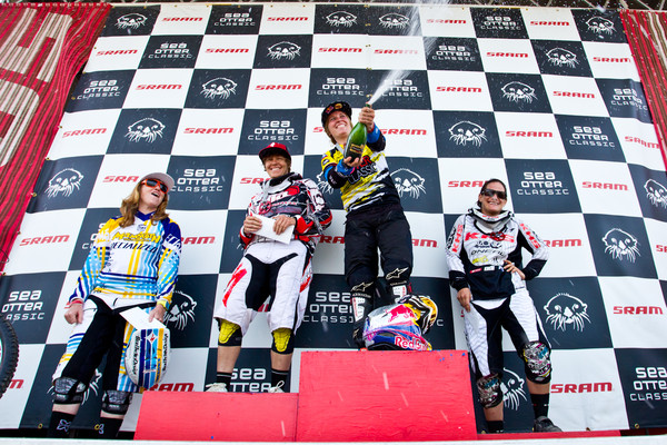 Women's Podium  - Sea Otter Slalom finals - Mountain Biking Pictures - Vital MTB