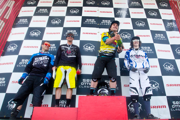 Men's Podium  - Sea Otter Slalom finals - Mountain Biking Pictures - Vital MTB