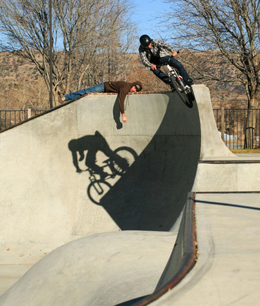 Adam Hauck is glad Woodward allows bikes and hobos who lay on the coping.