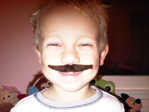 ... and he has a rad 'stash for Movember.