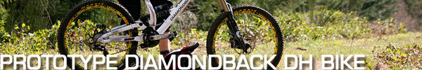 Photo/Audio slideshow of the new Diamondback prototype downhill bike that Kyle Thomas is shredding.