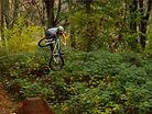 Nick Tingren jumps dirt